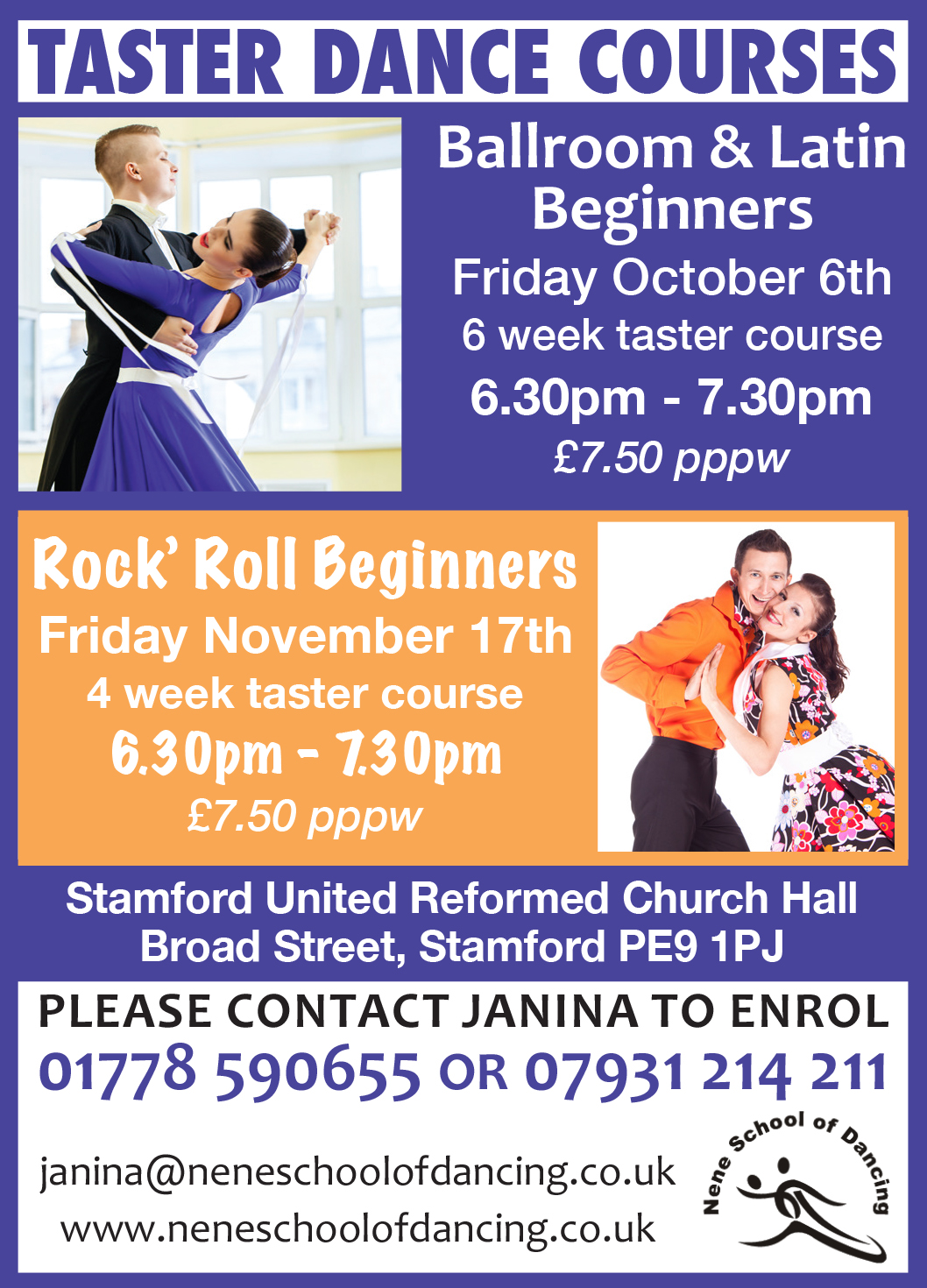 Nene School of Dancing Beginners Taster Sessions Oct 2017